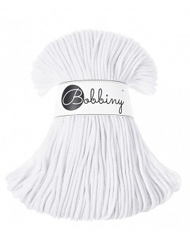 Bobbiny Cotton Cord Junior 3mm / 100m / White