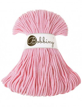 Bobbiny Cotton Cord Junior 3mm / 100m / Baby pink