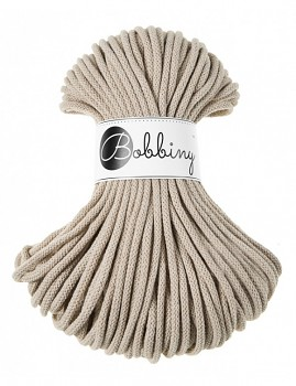 Bobbiny Cotton Cord Premium 5mm / 50m / Beige