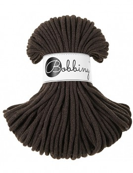 Bobbiny Cotton Cord Premium 5mm / 50m / Chocolate