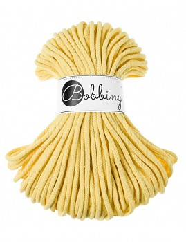 Bobbiny Cotton Cord Premium 5mm / 50m / Lemon