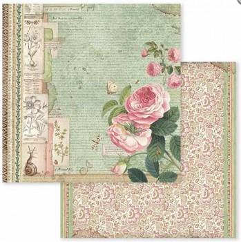 Scrapbookový papier / 12x12 / Spring Botanic - English Roses with snail