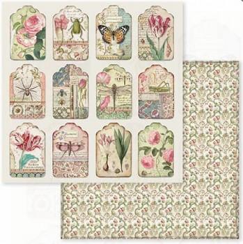 Scrapbookový papier / 12x12 / Spring Botanic tags