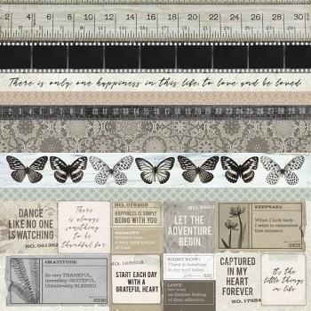 "Scrapbookový papier 12x12"" / Whisper / Buff"
