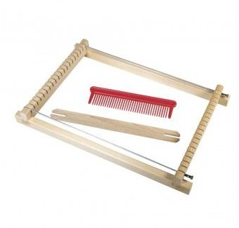 Weaving loom for children, 18,5x29 cm, width 16,5 cm
