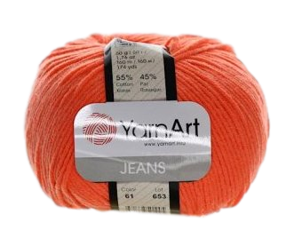 Yarn Jeans (Gina) / 50g / bright orange 61