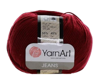 Yarn Jeans (Gina) / 50g / bordo 66