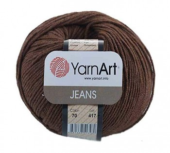 Yarn Jeans (Gina) / 50g / dark brown 70