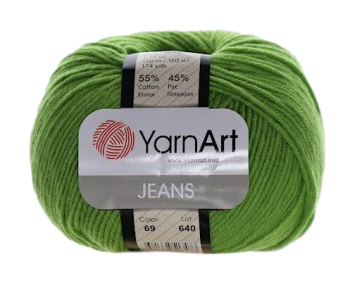 Yarn Jeans (Gina) / 50g / green 69