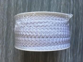 Ric Rac Trim Ribbon width 4 mm / White / 50m