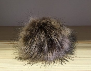Faux fur pompon 12 cm / natural 23