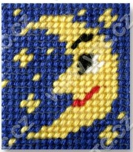 Cross stitch kit 11x13 cm - moon