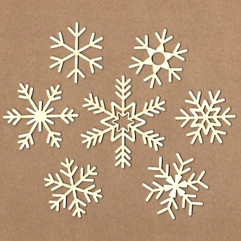 Chipboards - Snowflakes / 4 - 9 cm / 7ks