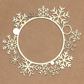 Chipboards - Snowflakes frame / 14cm / 1ks