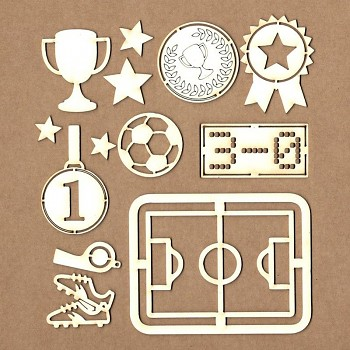 Chipboards - Soccer set / 11ks