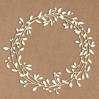 Chipboards - Spring crown frame / 13x13cm / 1ks