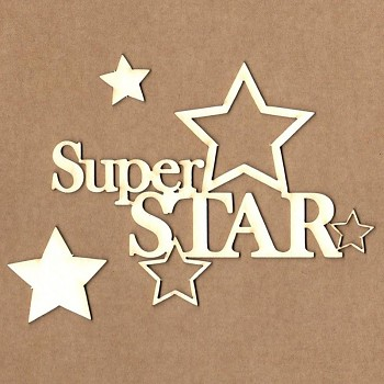 Chipboards - Super star / 8,5x11 cm / 1ks