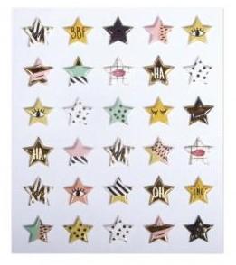 """Vypuklé """"puffy"""" samolepky / Stars / 30ks"""