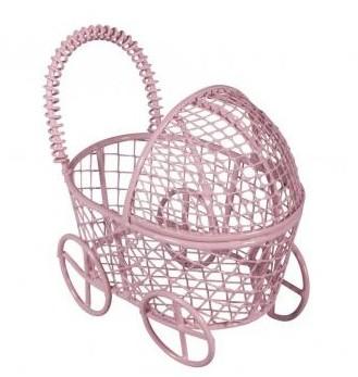 Мини коляска / 8x5x7,5 см / розовый
