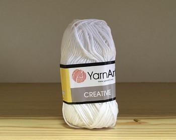 Bavlnená priadza Creative / 50g / biela 220