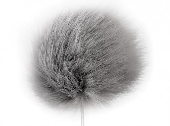 Faux fur pompon 8 cm / dove grey
