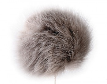 Imitation Fur Pom Pom for Hats Ø8 cm / purple chalk