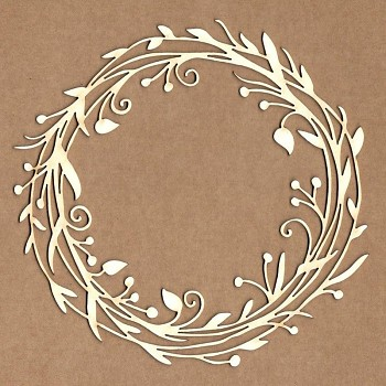 Chipboards - Wild crown frame / 13x13 cm / 1ks