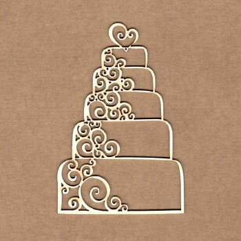 Chipboards - Wedding cake / 8,5 cm / 1ks