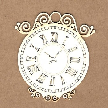 Chipboards - Vintage Clock / 5,3 cm / 1ks