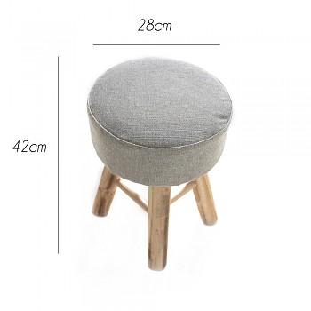Wooden stool 28x42cm