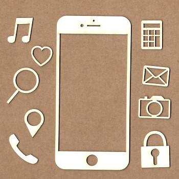 Chipboards - Smartphone / 10ks