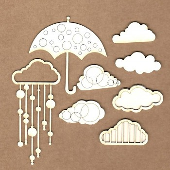 Chipboards - Set Rain / 10ks