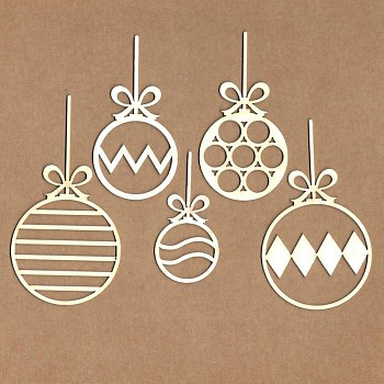 Wycinanki - Set of Christmas balls/ 5szt