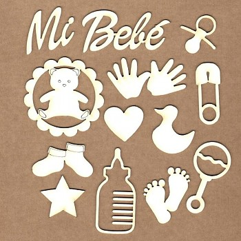 Chipboards - Set My baby / 12ks