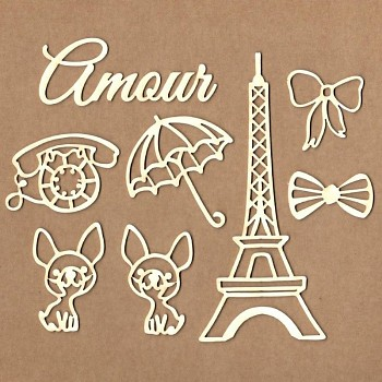 "Chipboards - Set ""Mon Amour"" / 8ks"