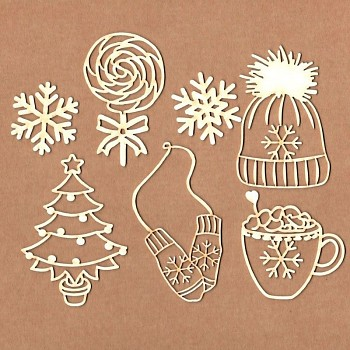 "Chipboards - Set ""Cozy Winter"" / 7ks"