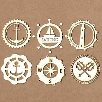 Chipboards - Námornícke odznaky / 4-5cm / 6ks