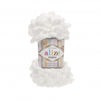 Alize Puffy / 100g / 55 White