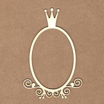 Chipboards - Princess frame / 10,5x7cm / 1ks