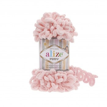 Alize Puffy / 100g / 340 Powder Pink