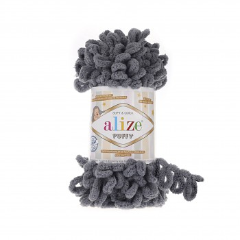 Alize Puffy / 100g / 87 Coal Grey
