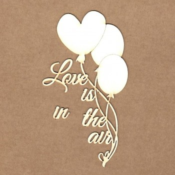 "Chipboards - Balloons ""Love is in the air"" /  6x11 cm"