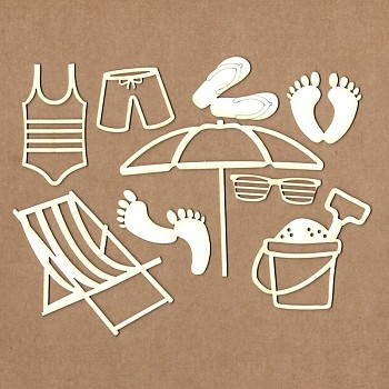 Chipboards - Beach set / 9ks