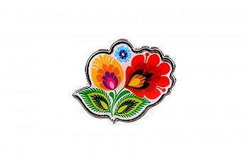 Folk значок / flower / 2,2 x 1,8 cm