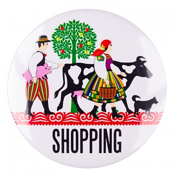 Folk badge 58 mm / shopping
