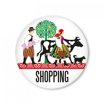 Folk badge 37 mm / shopping