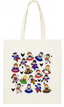 Folk Cotton bag 37x41cm