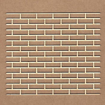 Chipboards -Bricks background  / 12,3x10,7cm / 1ks