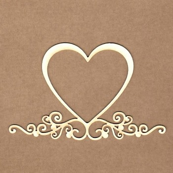 Chipboards - Heart frame /  12x7cm / 1ks