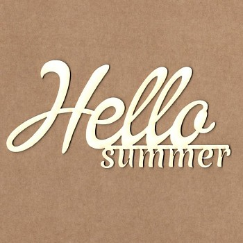 Chipboards - Hello summer / 13cm / 1ks